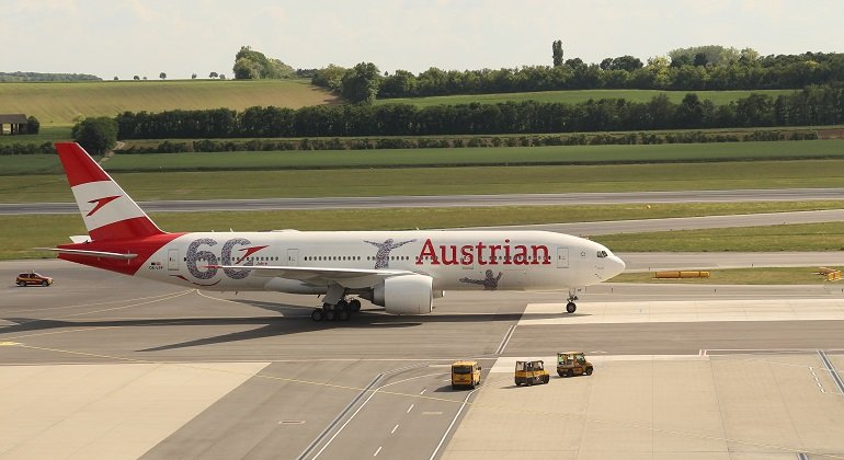 flight with austrian airlines